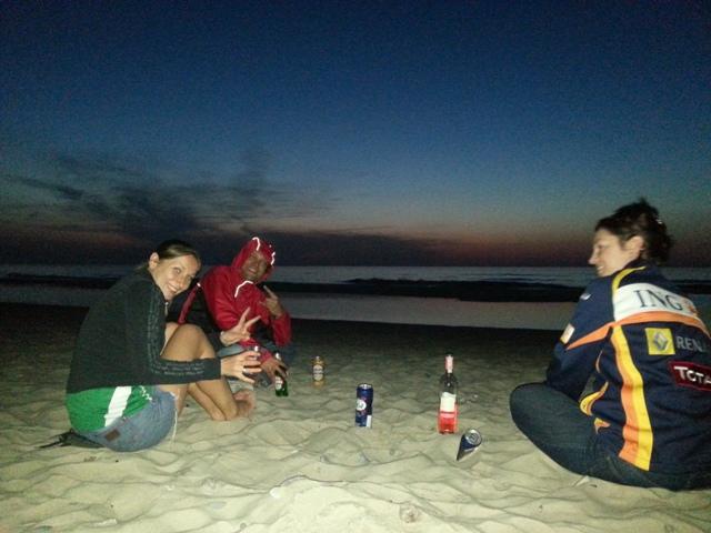 on the beach, babe!!! pizzz....a